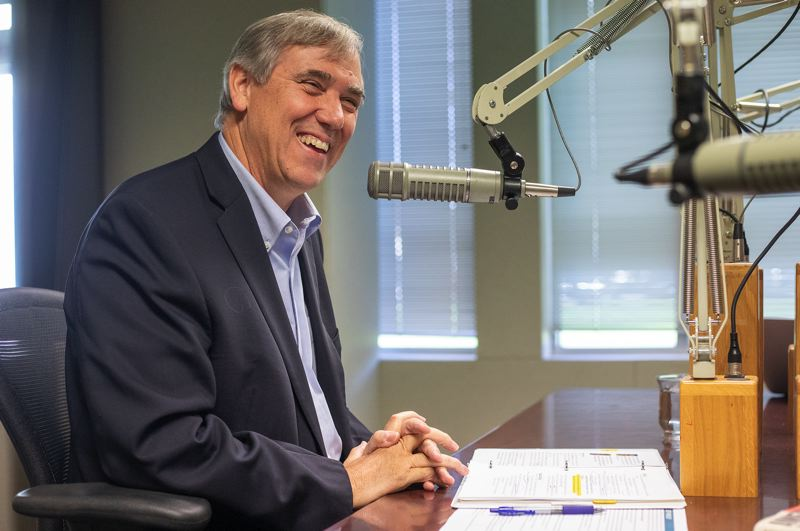 PMG FILE PHOTO - U.S. Sen. Jeff Merkley, D-Ore., at a meeting with Pamplin Media Group reporters and editors last year. He spoke with reporters on a conference call Wednesday, May 6, about his priorities for a new coronavirus aid package from Congress.