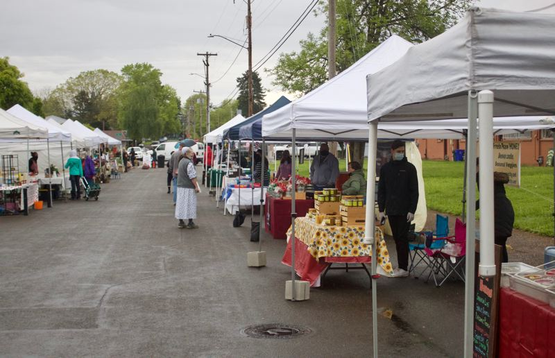 PMG PHOTO: CHRISTOPHER KEIZUR - There will be fewer vendors at the Gresham Market as long as the COVID-19 pandemic continues to pose a danger.