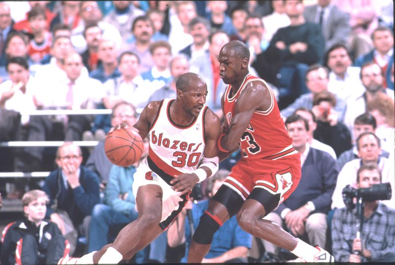 COURTESY PHOTO: PORTLAND TRAIL BLAZERS - Terry Porter and the Blazers challenged Michael Jordan's Chicago Bulls for NBA supremacy in the Early 1990s.