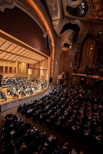 COURTESY: JASON DESOMER - The Oregon Symphony at the Arlene Schnitzer concert hall. The Symphony got a $2 million loan via Umpqua Bank, backed by the US Government, to pay salaries for eight weeks. However, unless crowds are allowed to assemble again soon, the Symphony will not be able to go back to performing music.