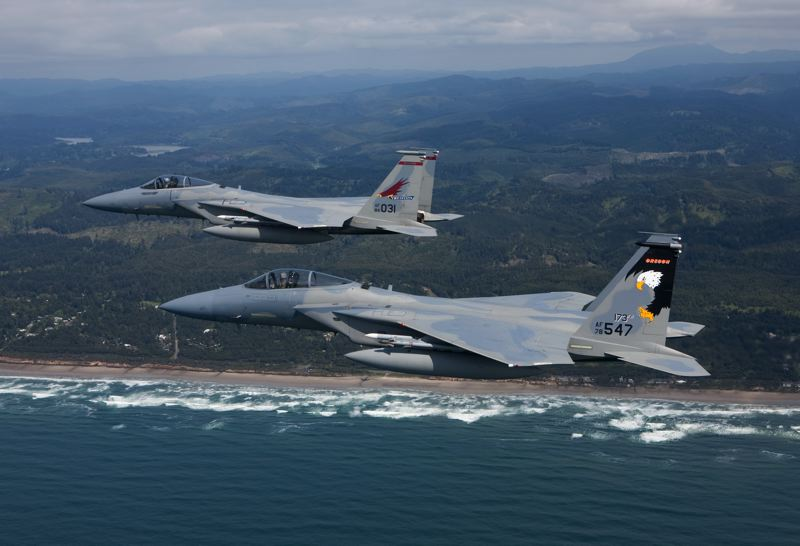 COURTESY PHOTO: OREGON MILITARY DEPARTMENT - Oregon Air National Guard will salute local health care workers with a Friday morning flyover, May 8.