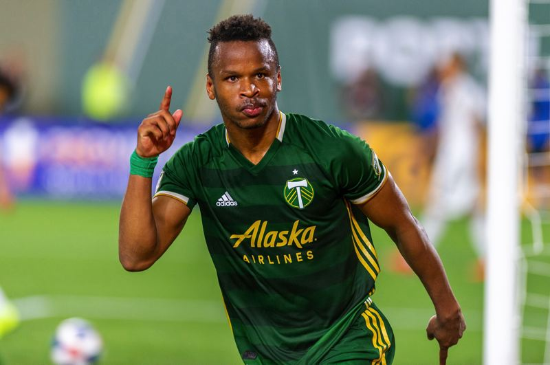 PMG FILE PHOTO - It wasn't as much fun as celebrating a goal, but even with social distancing, Timbers forward Jeremy Ebobisse was thrilled to be back on the training field Thursday.