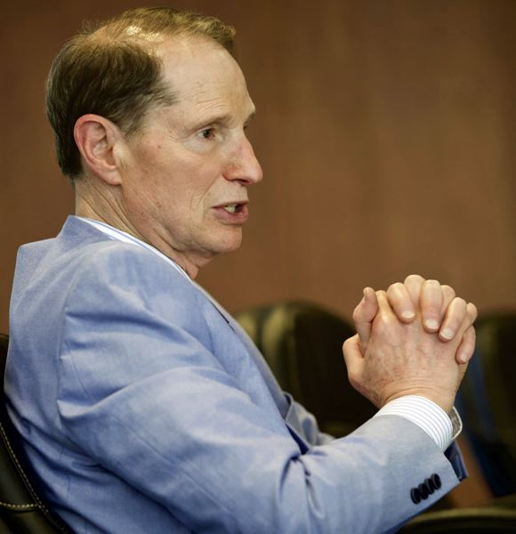 PMG FILE PHOTO - U.S. Sen. Ron Wyden said the coronavirus pandemic isn't going away soon, and neither is the economic downturn resulting from the resulting shutdown of public life and business activity.