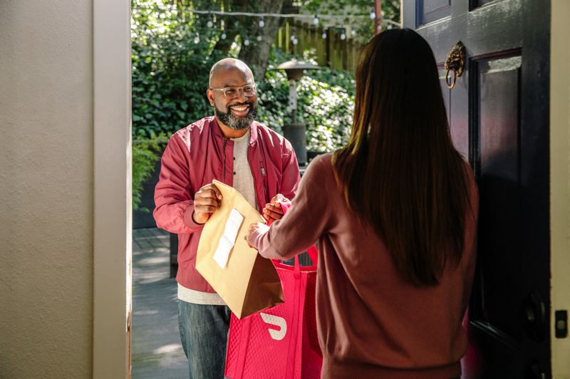 COURTESY PHOTO: DOORDASH - DoorDash teams with The Fund for Portland Public Schools to deliver meals and school materials to kids that cant come to the pick-up sites.