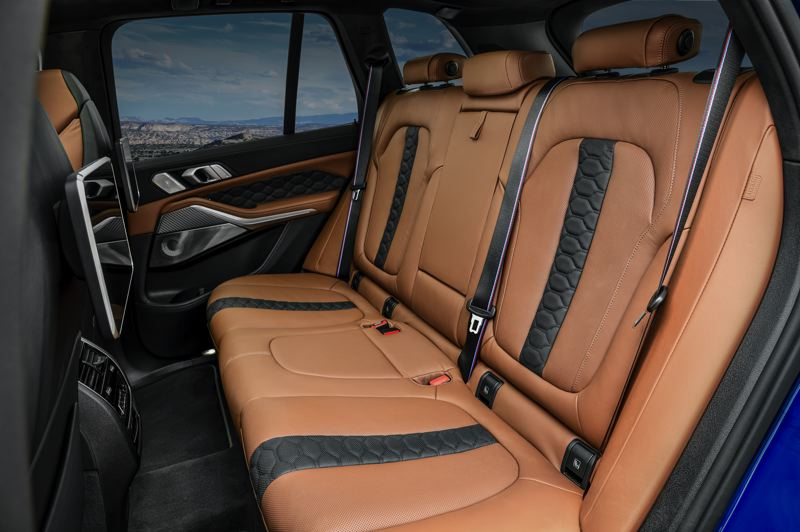 COURTESY BMW USA - The rear seats provice enough room for three adults to ride in style and comfort.