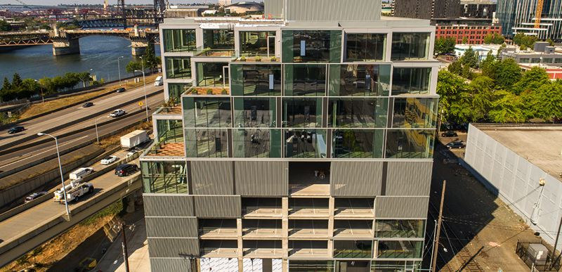COURTESY: OCAPA - The most talked about parking garage in Portland, 7 S.E. Stark, won top honors in the parking garage category at the 2020 Excellence in Concrete Awards.