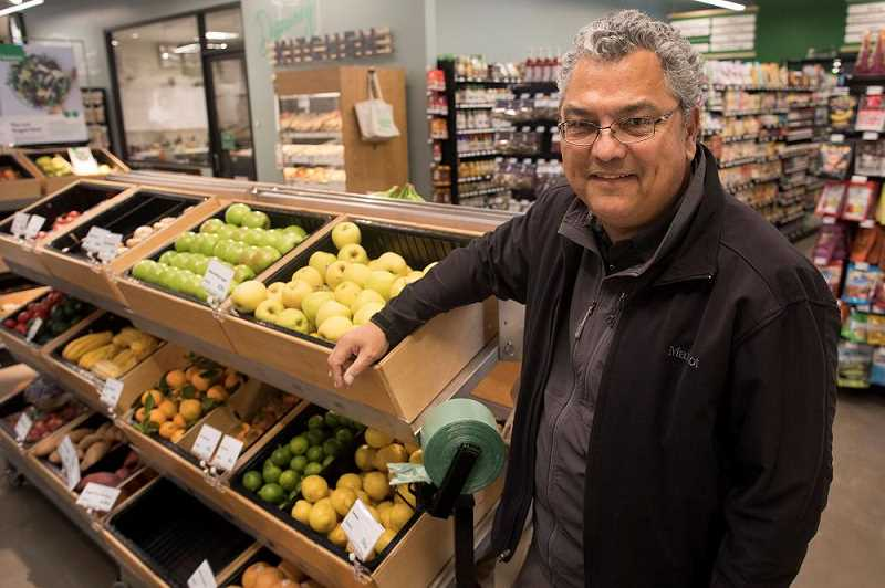 PHOT BY: RAY PITZ - Fernando Divina, president of Basics Markets, at the store in Tualatin.