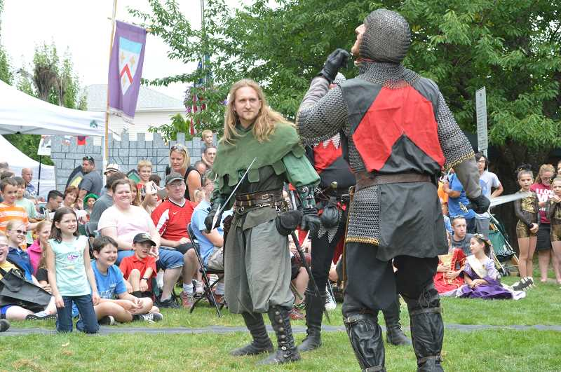 PMG FILE PHOTO - The Seattle Knights have long been a favorite of the annual Sherwood Robin Hood Festival but this year will mark only the third time since 1954 that the Robin Hood Festival has been cancelled.