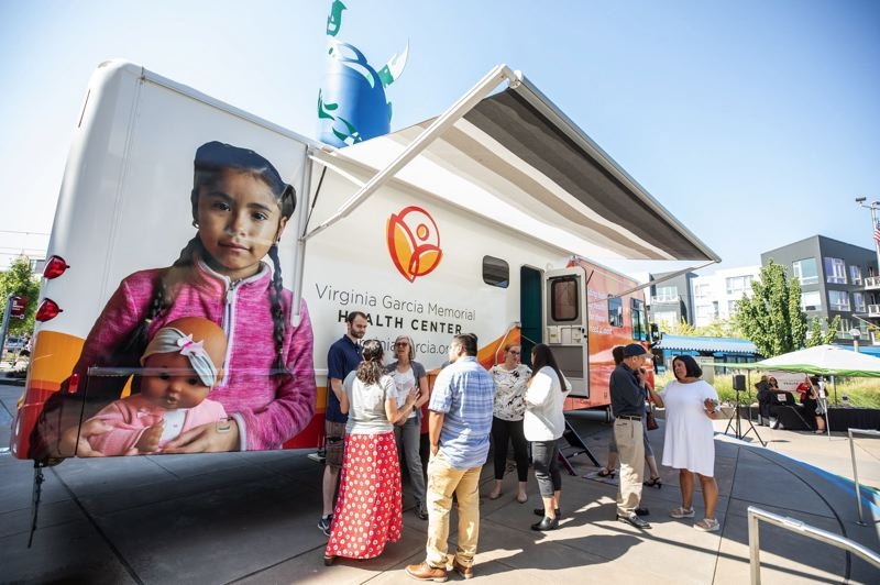 PMG FILE PHOTO: - The Virginia Garcia Memorial Hospital's mobile health clinic travels to farm labor camps across the state every year to provide healthcare to Oregon's seasonal farmworkers.