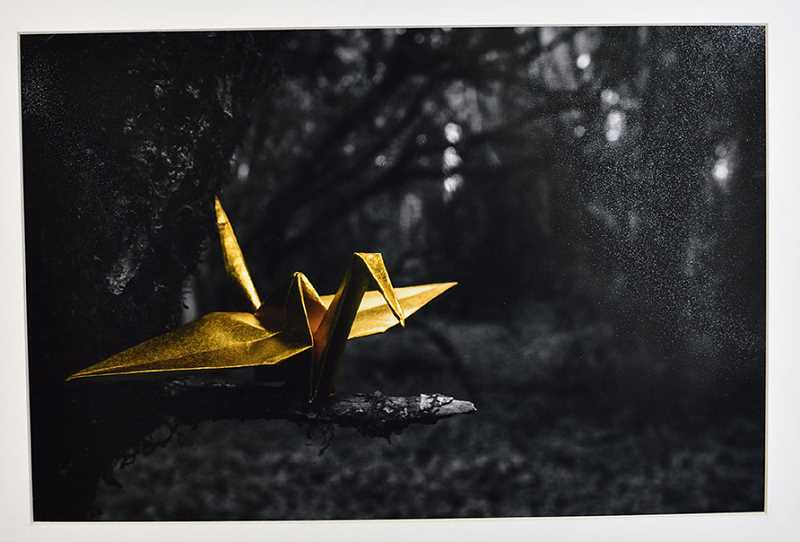 'Gold Crane' by Andrew Tena of Lake Oswego High School earned the student a $22,000 renewable PNCA scholarship.