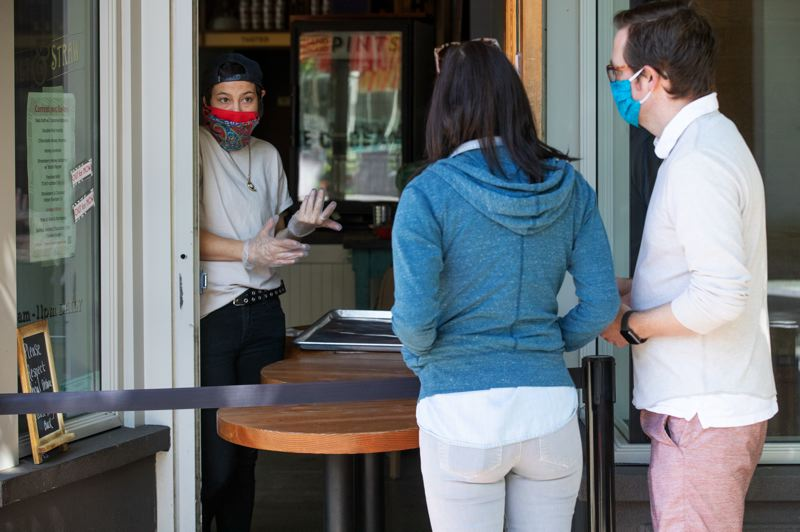 PMG: JONATHAN HOUSE - Salt & Straw now has window pick up and delivery service while complying with social distancing.