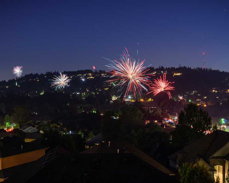 COURTESY PHOTO - Happy Valley's annual fireworks display has taken place for nearly 50 years.