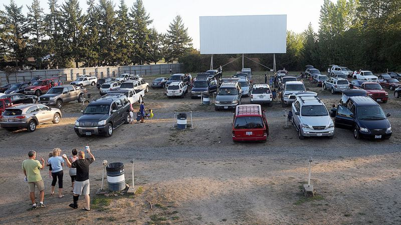 PMG FILE PHOTO - Newberg's 99W Drive-in could reopen in late May with physical-distancing requirements that could mean fewer cars and no lines at the snack bar.