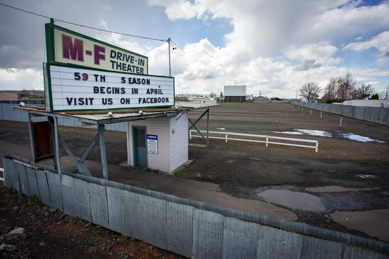 COURTESY PHOTO: PENDLETON EAST OREGONIAN - Milton-Freewater's M-F Drive-in Theater opened for its 59th season in early April. The theater has strict physical-distancing requirements for customers.