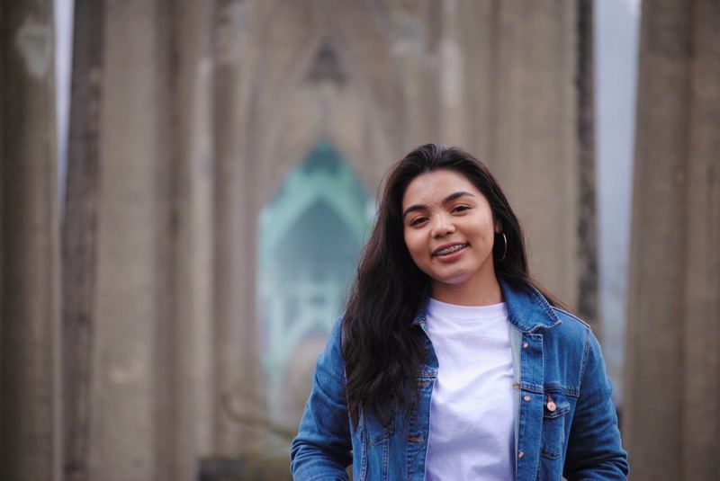 COURTESY PHOTO: PRUDENTIAL FINANCIAL - Kaiya Laguardia, 18, from Portlands Roosevelt High School, was honored for a documentary film she made.