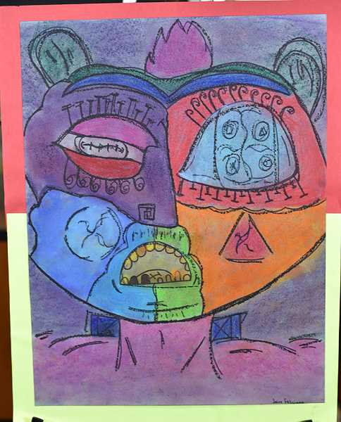 Kraxberger Middle School seventh-grader Jairo Felicianl's drawing 'Bermy' won an honorable mention.