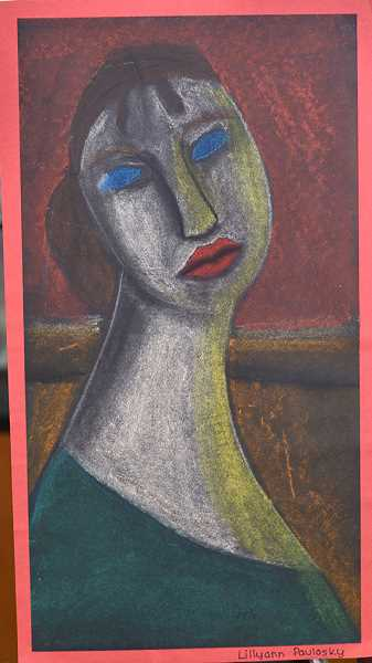 Kraxberger Middle School sixth-grader Lillyann Paulosky's pastel drawing 'Candlelight Dinner' won an honorable mention.
