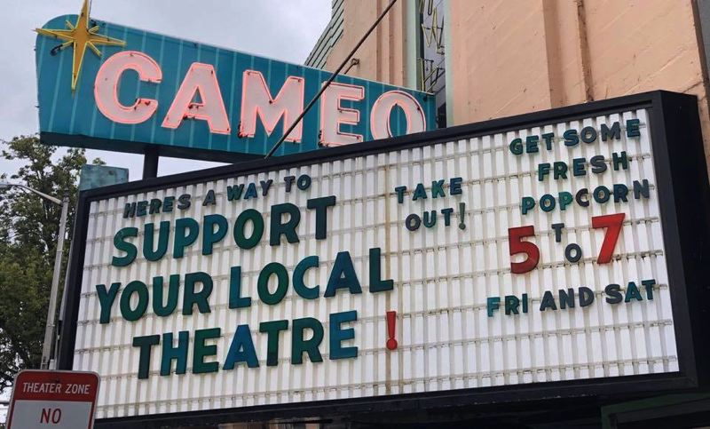 COURTESY PHOTO: CAMEO THEATRE - Newberg's Cameo Theatre hopes to get a grant to help replace hundreds of its old seats and improve acoustics. The theater sells popcorn each weekend to continue its cash flow.