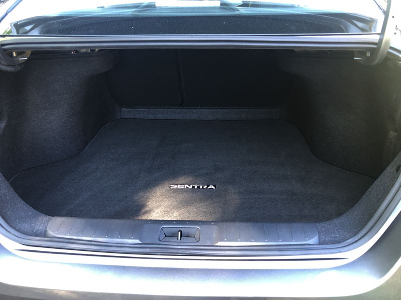 PMG PHOTO: JEFF ZURSCHMEIDE - Like all sedans, the 2020 Nissan Sentra comes with a trunk that is more secure than the glass window in crossovers.