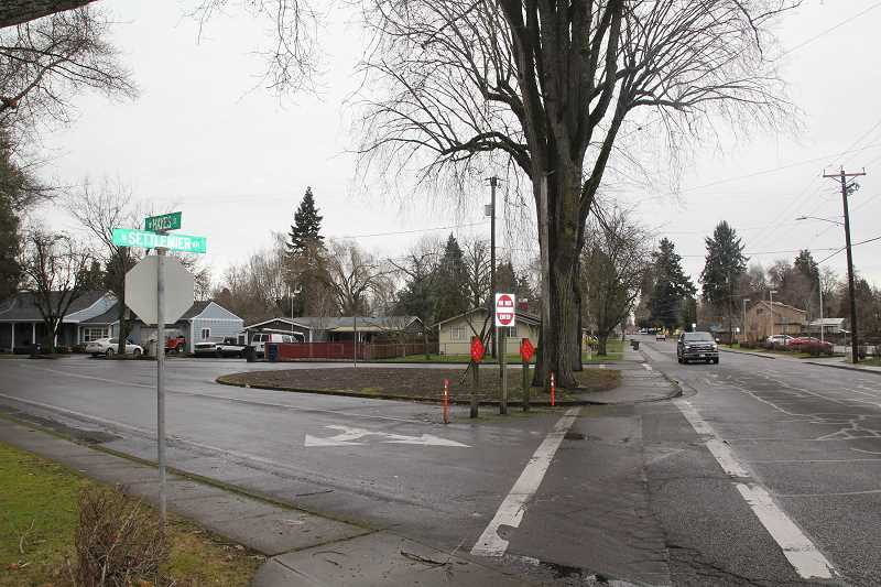 PMG PHOTO: JUSTIN MUCH - The awkward intersection at Hayes Street and Settelmier Avenue will constitute a significant part of the improvement project.