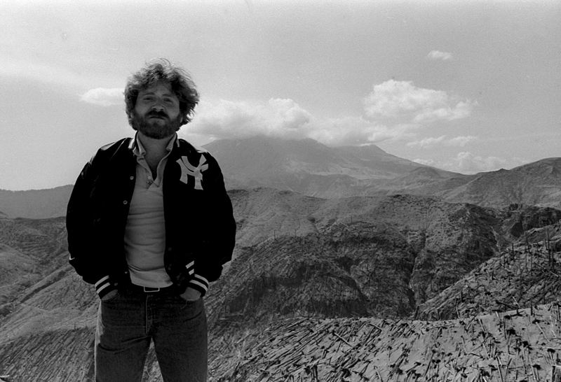 COURTESY PHOTO: CLAUDIA J. HOWELL, OREGON JOURNAL - Don Hamilton, then a cub reporter, standing on Mount St. Helens in 1981.