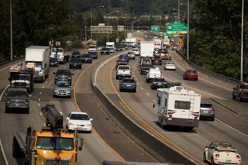 PMG FILE PHOTO - Motorists travel to and from George Abernethy Bridge along Interstate 205.