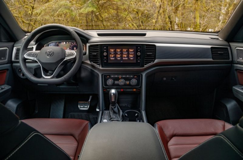 VOLKSWAGEN OF AMERICA - The interior of the 2020 Atlas Cross Sport is clean and efficient, with good materials and easy-to-use controls, like all Volkswagen products.