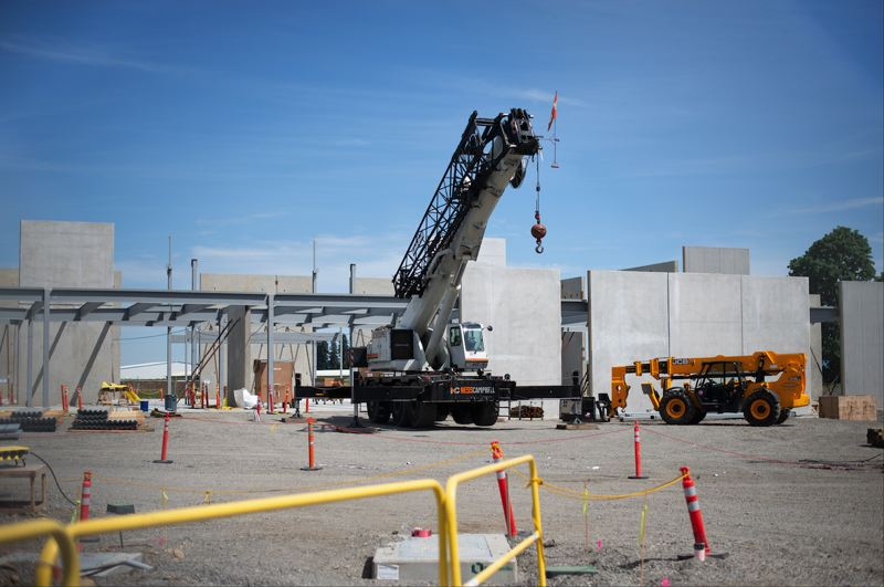 PMG PHOTO: ANNA DEL SAVIO - Construction at the PCC facility in Scappoose is underway.