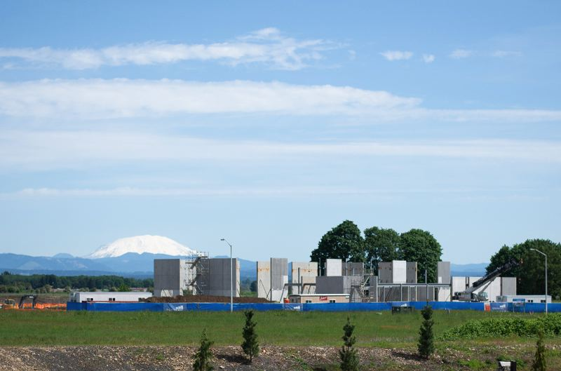 PMG PHOTO: ANNA DEL SAVIO - The PCC facility in Scappoose is being built in the industrial area near OMIC R&D and numerous manufacturers.