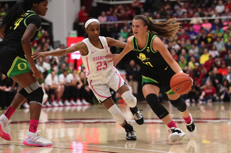 PMG PHOTO: JAIME VALDEZ - University of Oregon senior Sabrina Ionescu is one of three finalists for the Bill Hayward Amateur Athlete of the Year as presented by the Oregon Sports Awards.