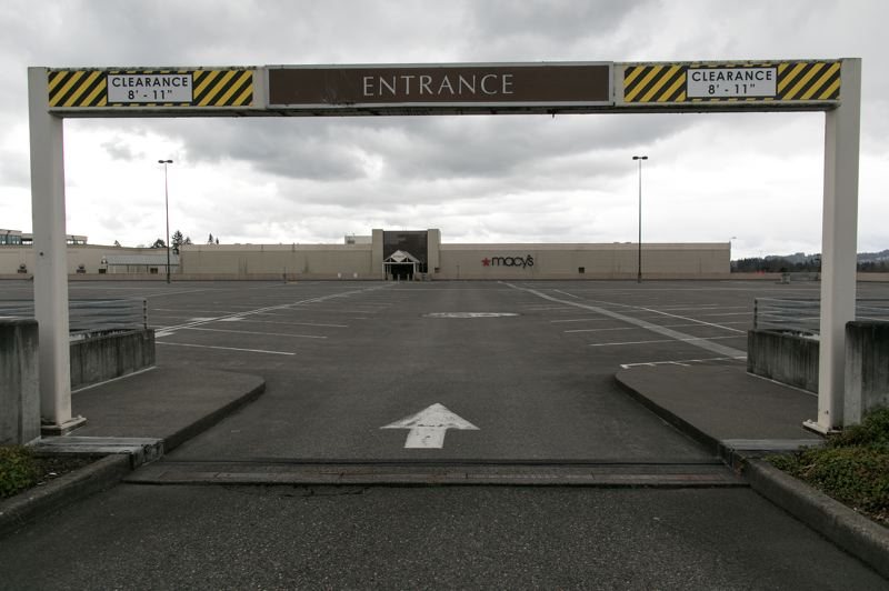 PMG PHOTO: JAIME VALDEZ - An empty parking lot outside Tigard's Washington Square shows the effects of the state's public health shutdown on the economy. Oregon's unemployment rate in April hit 14.2%.