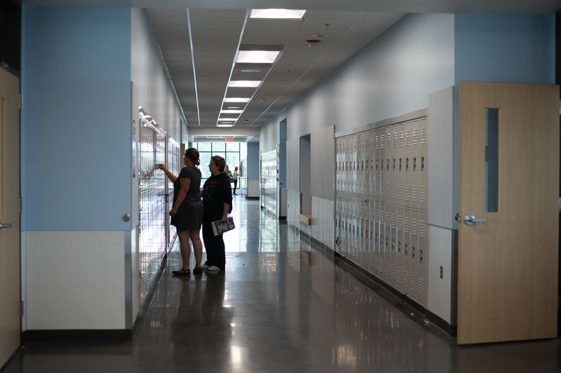 PMG PHOTO: ANNA DEL SAVIO - The new St. Helens Middle School opened to students in fall 2019.