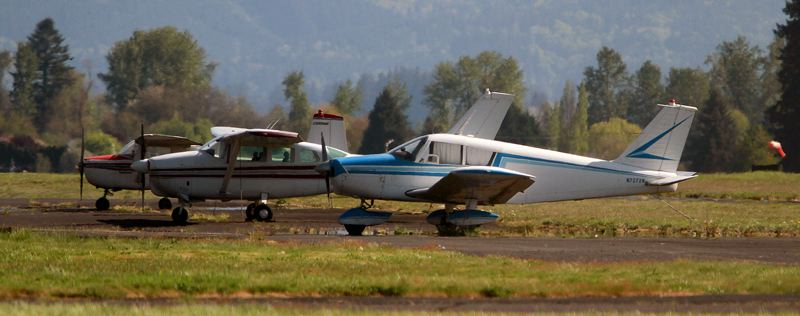 PMG PHOTO: MILES VANCE - Scappoose Industrial Airpark was one of many airports across Oregon that received grant money — $30,000 in this case — as part of a federal coronavirus relief package.