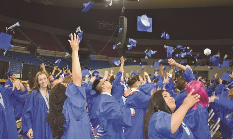 PMG FILE PHOTO: GRESHAM OUTLOOK - This is an image taken during the 2019 Gresham High School commencement ceremony.