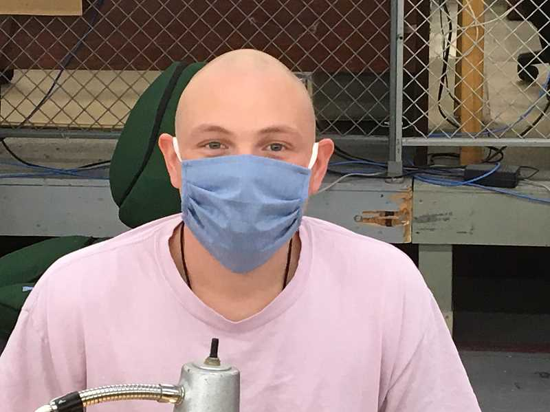 COURTESY PHOTO - An inmate at Deer Ridge Correctional Facility wears a mask. Face coverings, provided by the institution, are optional except in certain settings where 6 feet between people cannot be maintained.