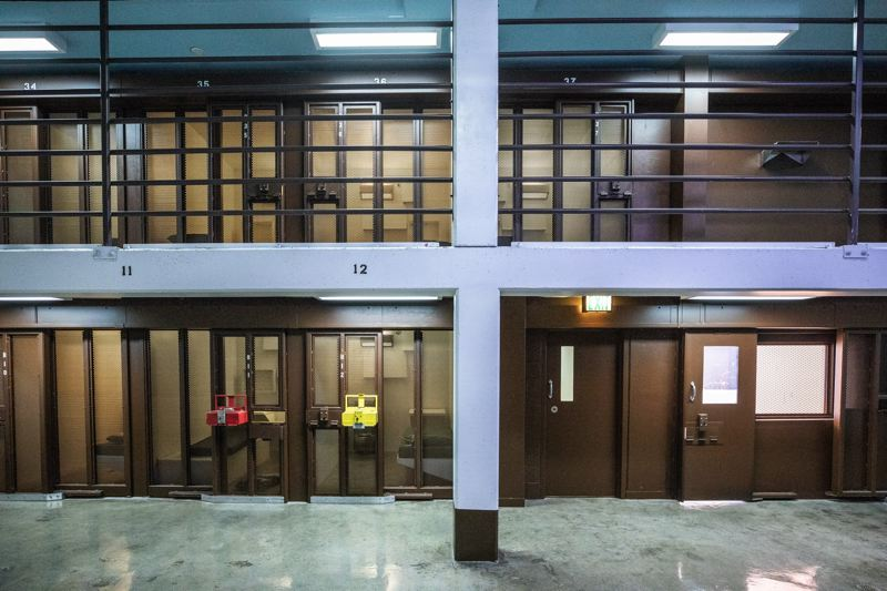 FILE PHOTO - Prison cells at the Oregon State Penitentiary are shown here.