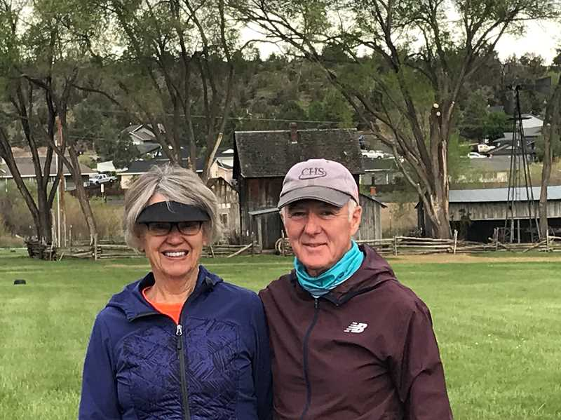 COURTESY PHOTO  - Jannice and Chuck Alexander prepare to take on the Fish Pond Jaunt during the MADras Runners Challenge.