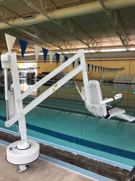 COURTESY PHOTO: MELISSA GEORGESEN - A new ADA lift has been installed at the Molalla Aquatic Center.