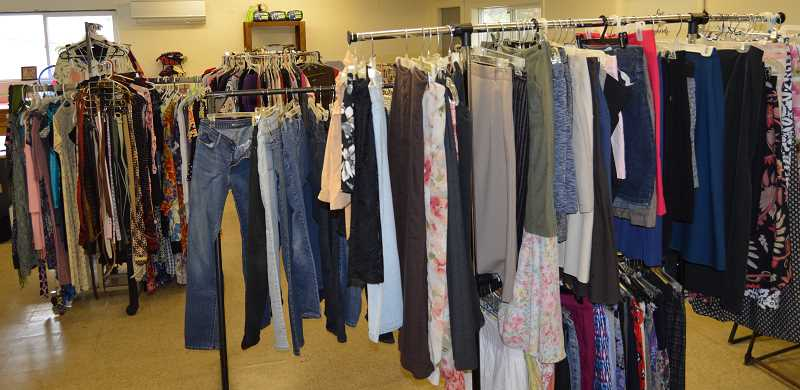 PMG PHOTO: CINDY FAMA - After nine weeks closed, Colton Community Clothes Closet is now open Tuesdays.