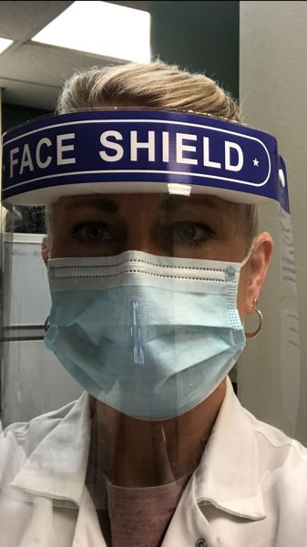 COURTESY PHOTO - Some hospital employees are told to wear one mask per day, reusing it between patients. Doctors say such practices at many hospitals aren't adequate, and they feel it endangers patients and themselves.