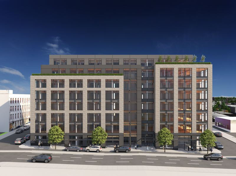 RENDERING COURTESY: TVA ARCHITECTS - Flatworks on Southeast Grand Ave will be one of the tallest cross-laminated timber buildings in the west, according to Bob Thompson of TVA Architects.