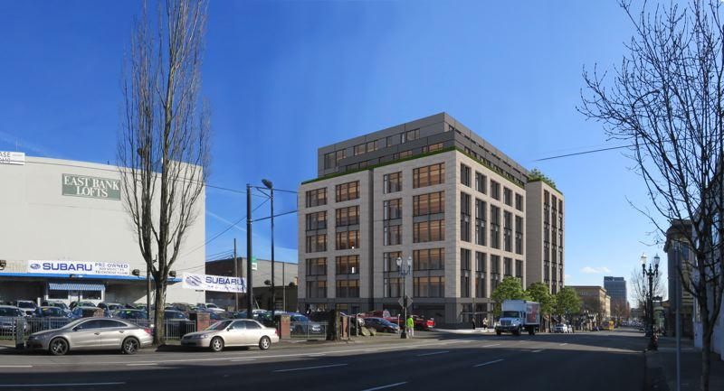 RENDERING COURTESY: TVA ARCHITECTS - Flatworks on Southeast Grand Avenue will be one of the tallest cross-laminated timber buildings in the west. Developer Vanessa Sturgeon thinks the coronavirus Depression recovery will be V-shaped and there will be plenty of demand for office space in Portland in 2022.