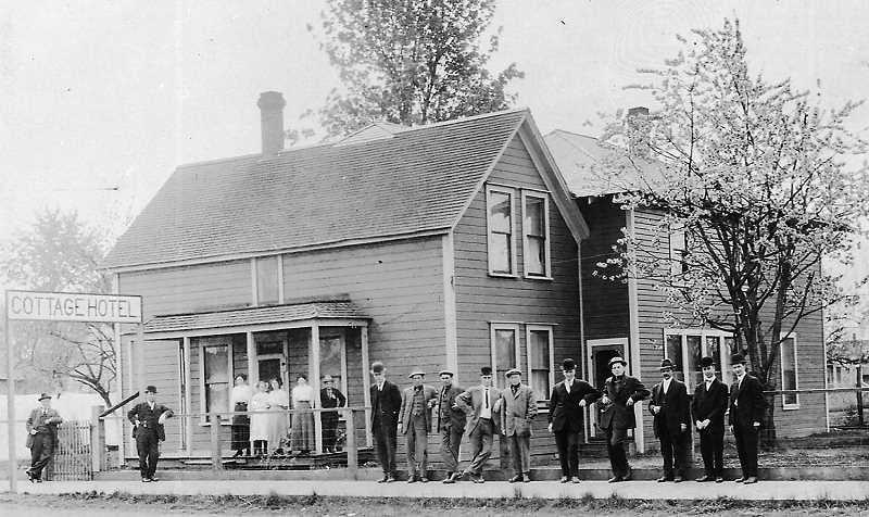 COURTESY PHOTO CANBY HISTORICAL SOCIETY. - A look at the Cottage Hotel on Grant Street in Canby.