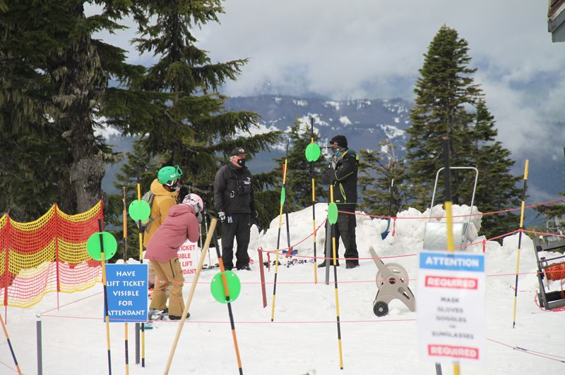 COURTESY PHOTO: TIMBERLINE LODGE AND SKI AREA - Staff are taking precautions, including social distancing and wearing masks, to keep everyone safe at Timberline.