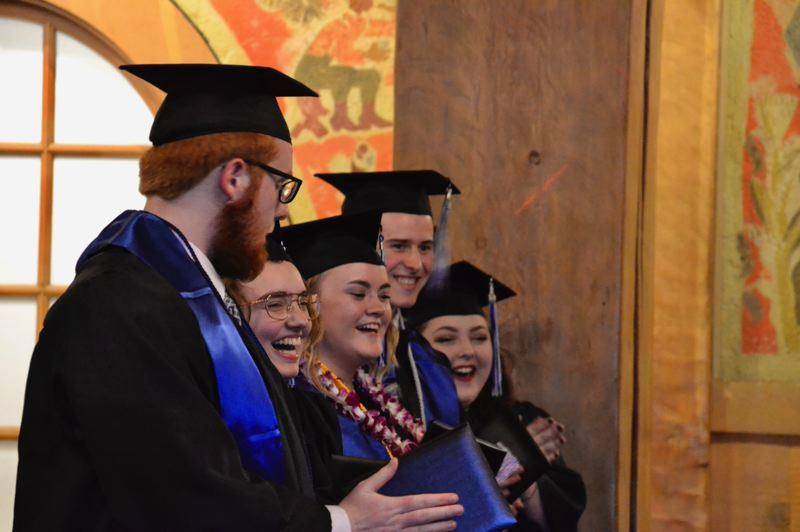 PMG FILE PHOTO - The first of OTAs graduation ceremonies took place last year at Timberline Lodge. Because of the COVID-19 crisis, the school has had to adapt for this year.