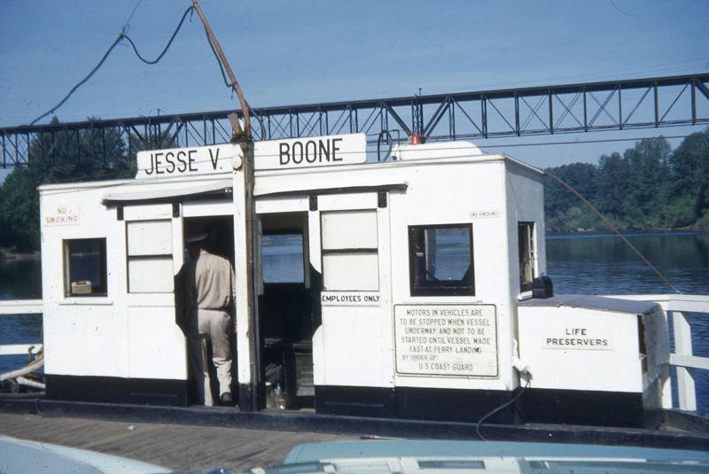 COURTESY PHOTO - A Willamette River ferry operated for decades between Wilsonville and Butteville was named for Jesse Van Bibber Boone, whose family established and operated the ferry beginning in the 1840s. Boone also built a plank road between Portland and Salem that is today's Boones Ferry Road.