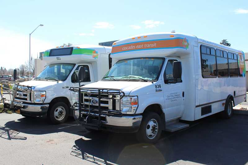 HOLLY M. GILL/MADRAS PIONEER - Cascades East Transit is changing some routes due to COVID-19.