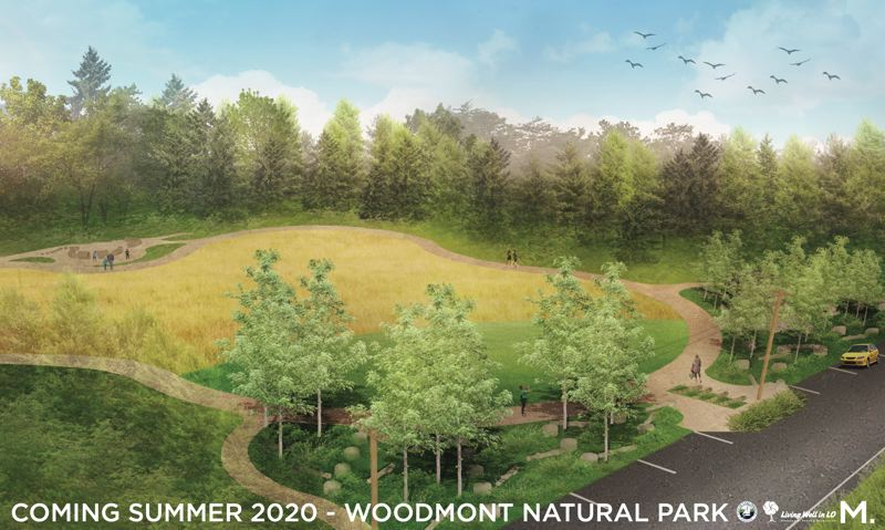 COURTESY PHOTO: CITY OF LAKE OSWEGO - Pictured here is the design graphic of Woodmont Natural Park.