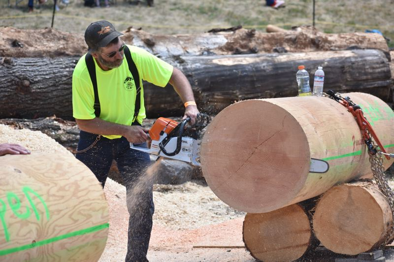 PMG FILE PHOTO - The Estacada Timber Festival typically features a variety of competitive logging events.