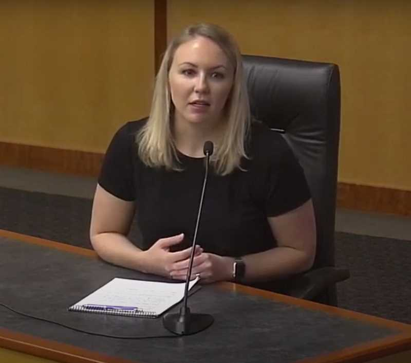 COURTESY OF MARION COUNTY - Katrina Rothenberger, public health division director for Marion County Health and Human Services, apprises the Board of Commissioners on COVID-19 updates.